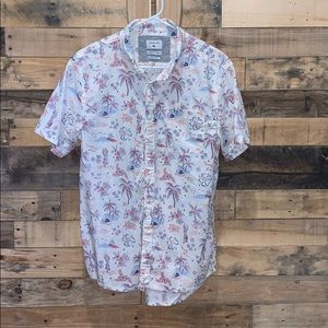 White Hawaiian Quicksilver Button-Up